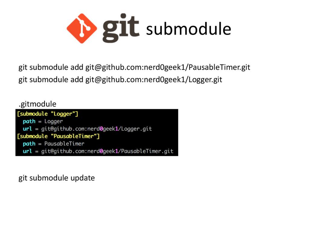 submodule git submodule add git@github.com:nerd...
