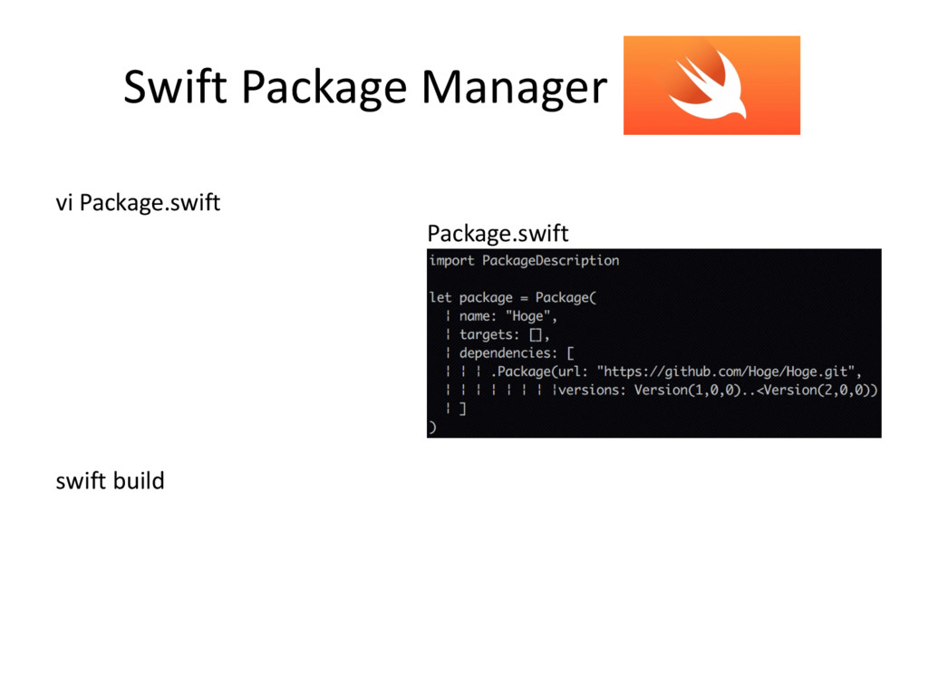 Swift Package Manager vi Package.swift Package....