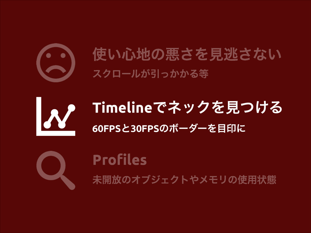 Profiles ະ։์ͷΦϒδΣΫτϝϞϦͷ༻ঢ়ଶ ͍৺ͷѱ͞Λݟಀ͞ͳ͍ εΫϩʔ...