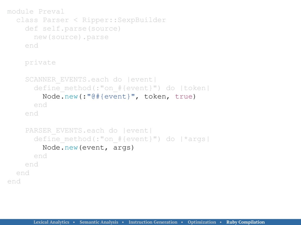 module Preval class Parser < Ripper::SexpBuilde...