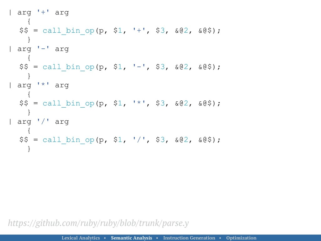   arg '+' arg { $$ = call_bin_op(p, $1, '+', $3...