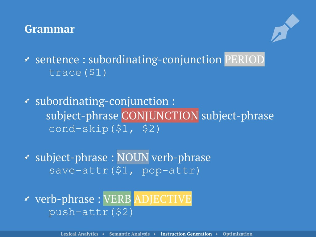 sentence : subordinating-conjunction PERIOD
