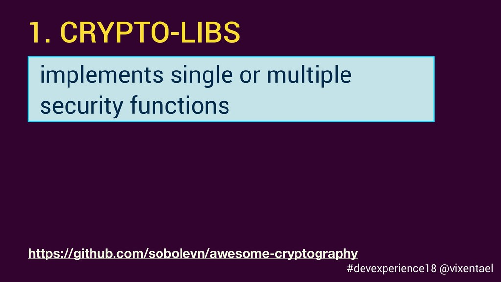 1. CRYPTO-LIBS implements single or multiple se...
