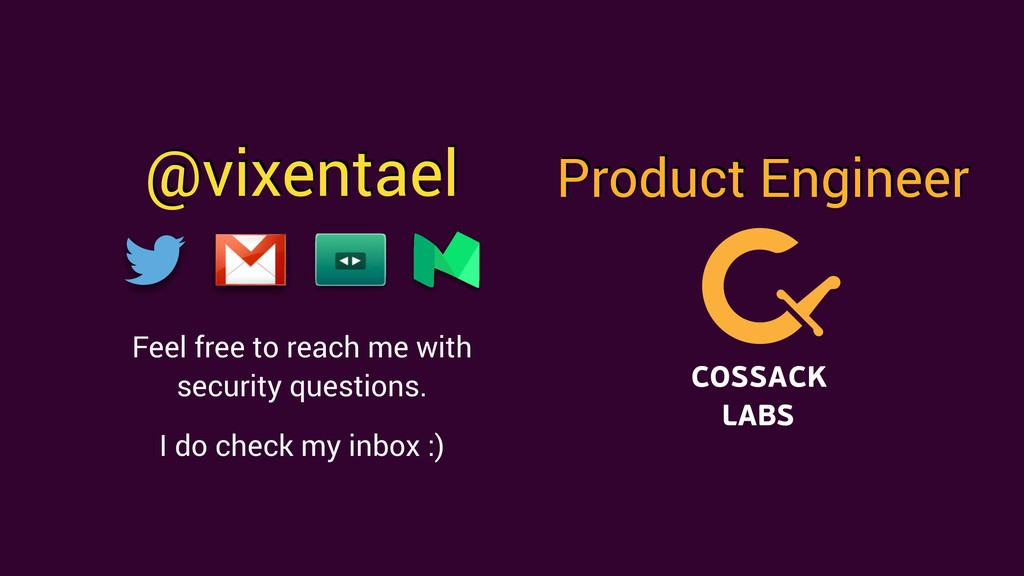 @vixentael Product Engineer Feel free to reach ...