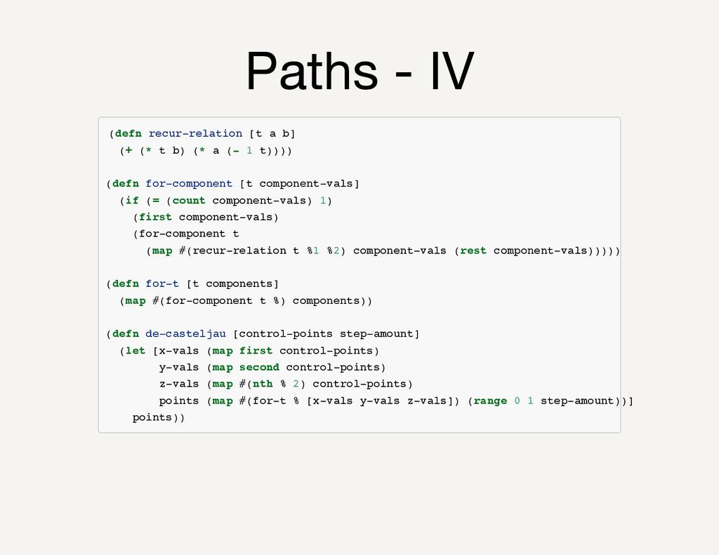 Paths - IV ( d e f n r e c u r - r e l a t i o ...
