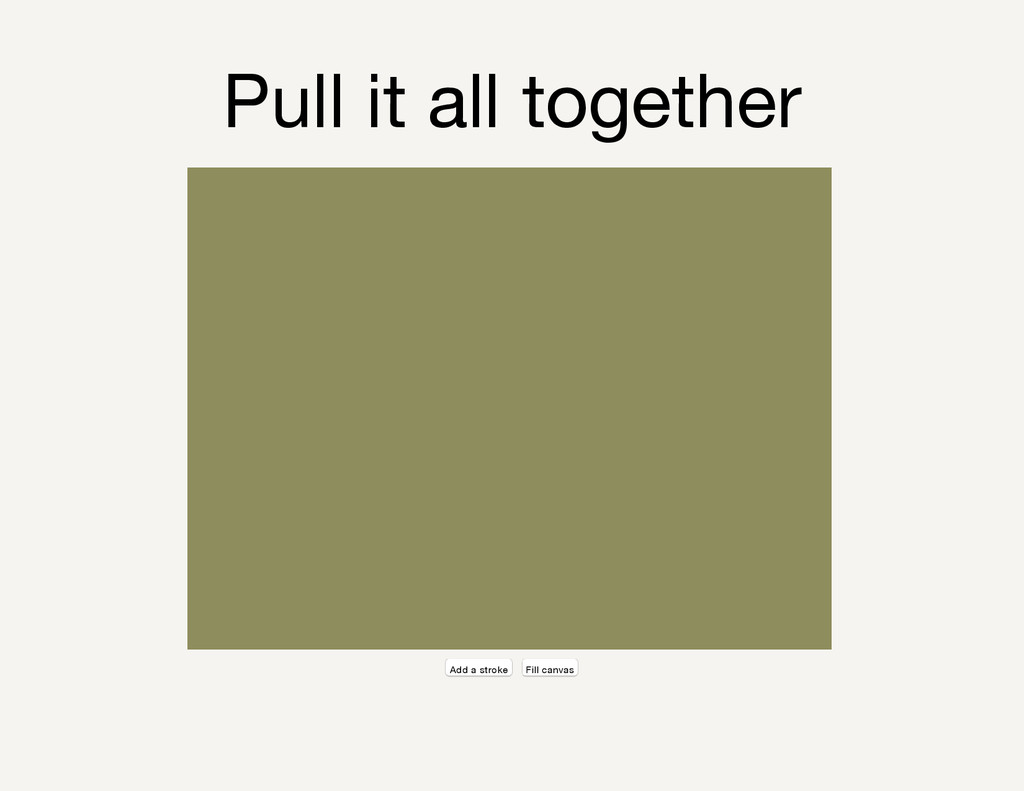 Pull it all together Add a stroke Fill canvas