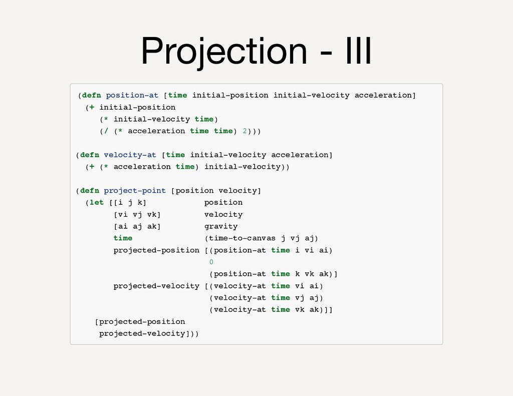 Projection - III ( d e f n p o s i t i o n - a ...