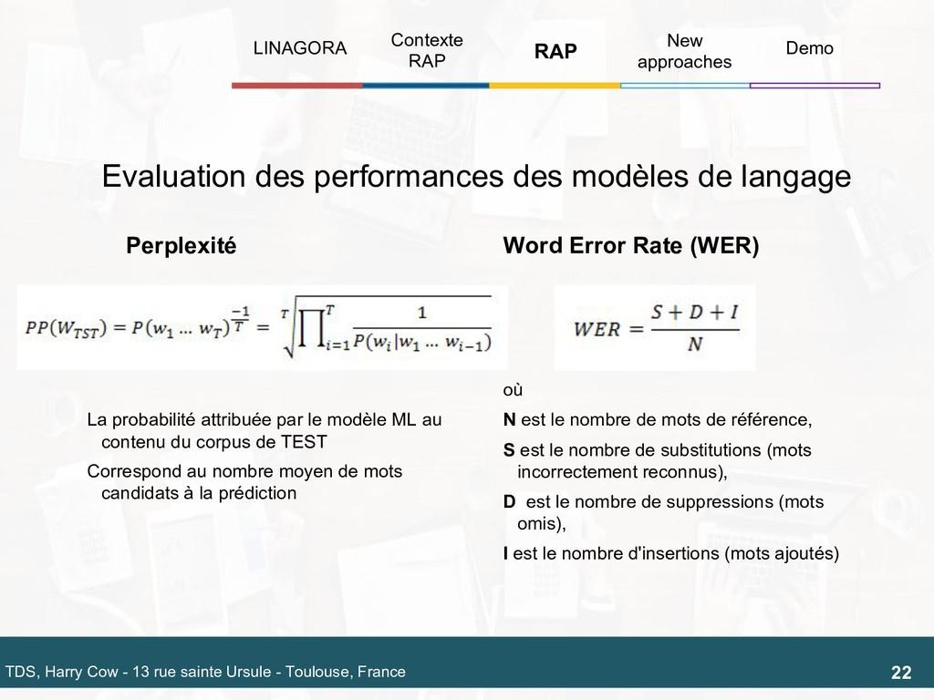 Evaluation des performances des modèles de lang...