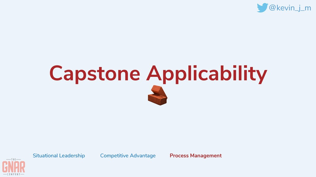 @kevin_j_m Capstone Applicability   🧱 Situation...