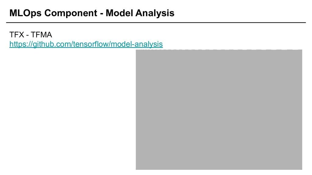 MLOps Component - Model Analysis TFX - TFMA htt...