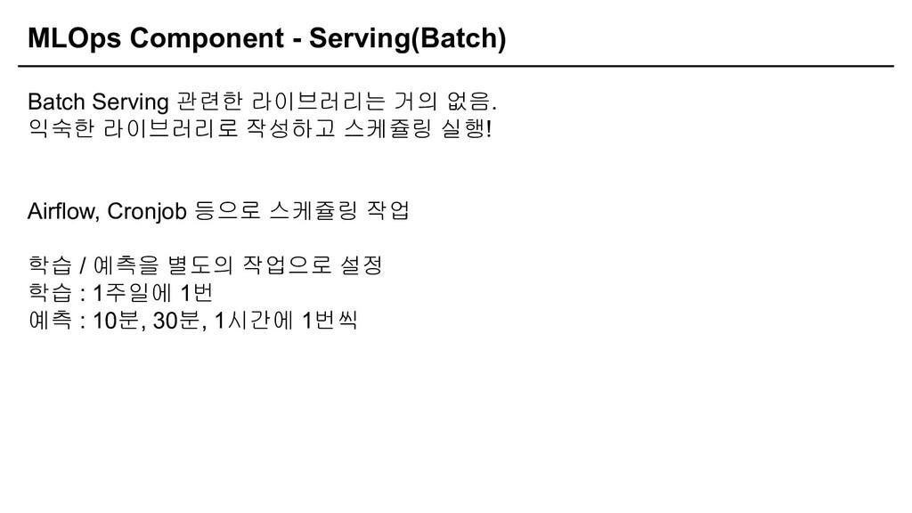 MLOps Component - Serving(Batch) Batch Serving ...