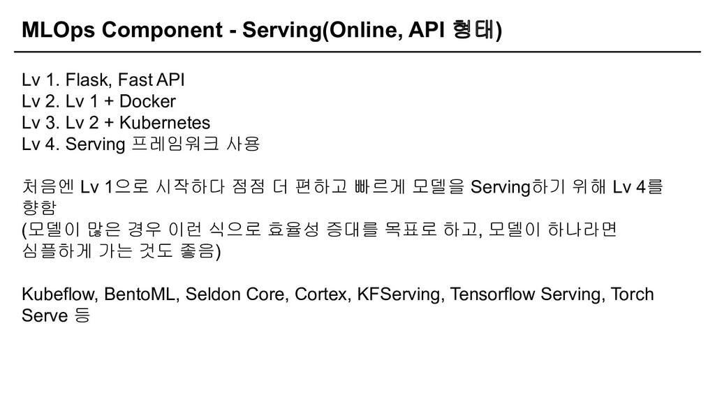 MLOps Component - Serving(Online, API 형태) Lv 1....