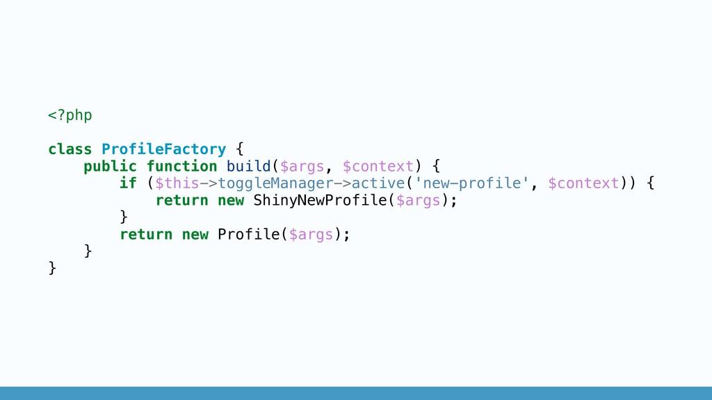 <?php class ProfileFactory { public function bu...