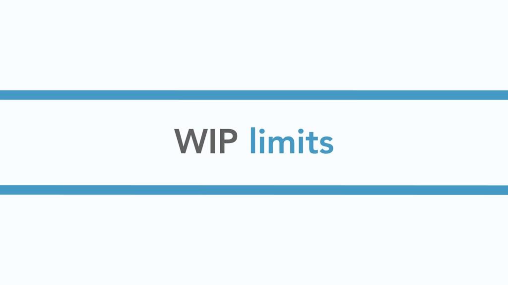 WIP limits