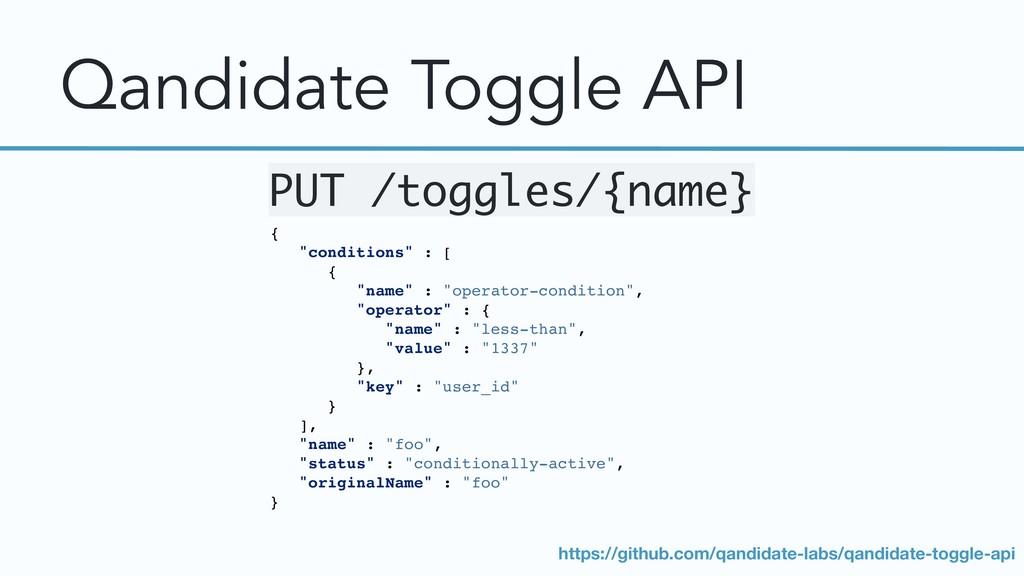 "Qandidate Toggle API { ""conditions"" : [ { ""name..."