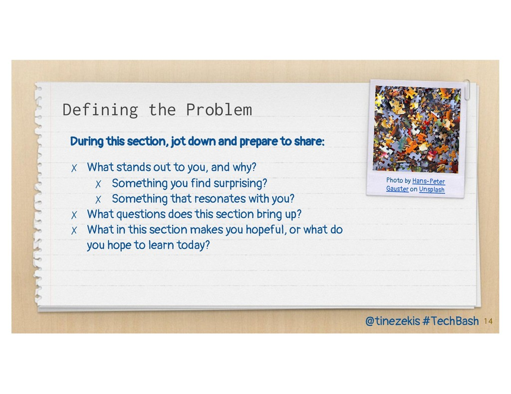 Defining the Problem During this section, jot d...