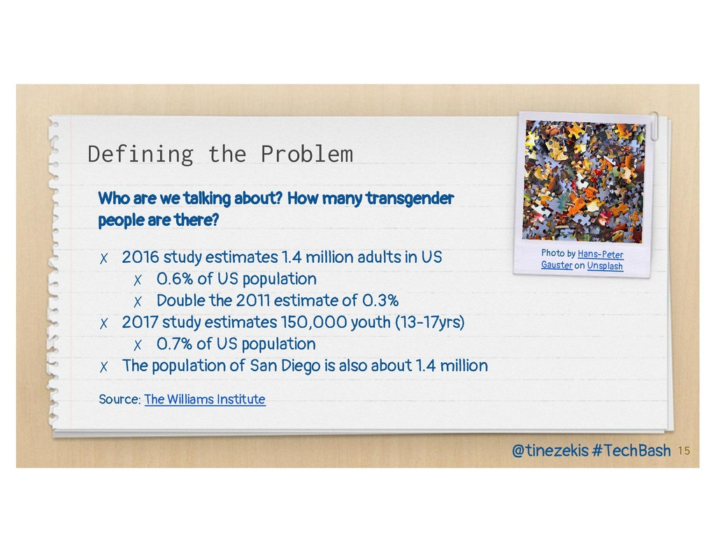 Defining the Problem Who are we talking about? ...