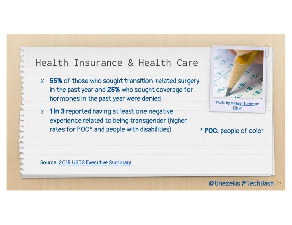 Health Insurance & Health Care ✗ 55% of those w...