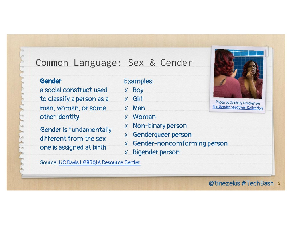 Gender a social construct used to classify a pe...