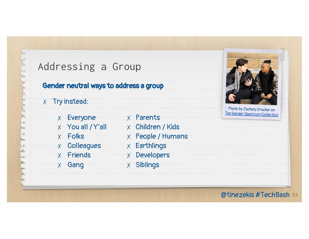 Addressing a Group Gender neutral ways to addre...