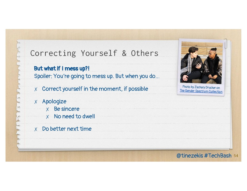 Correcting Yourself & Others But what if I mess...