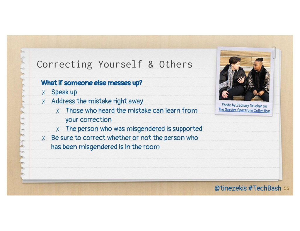 Correcting Yourself & Others What if someone el...