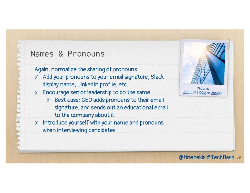 Names & Pronouns Again, normalize the sharing o...
