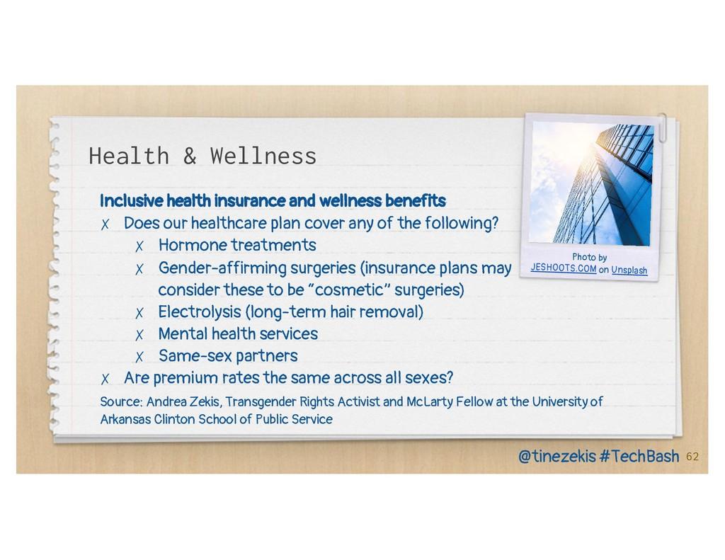 Health & Wellness Inclusive health insurance an...