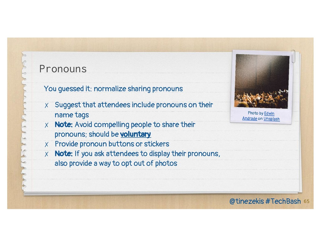 Pronouns You guessed it: normalize sharing pron...