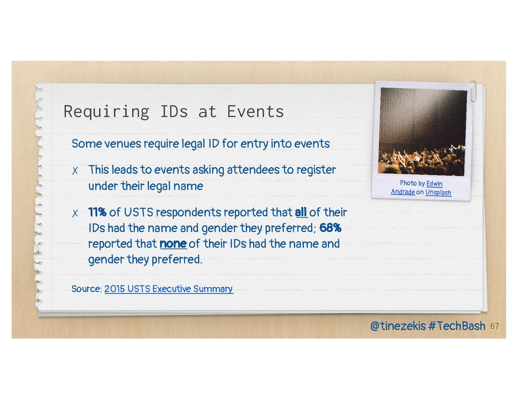 Requiring IDs at Events Some venues require leg...