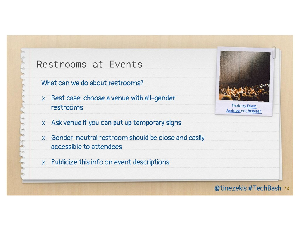 Restrooms at Events What can we do about restro...