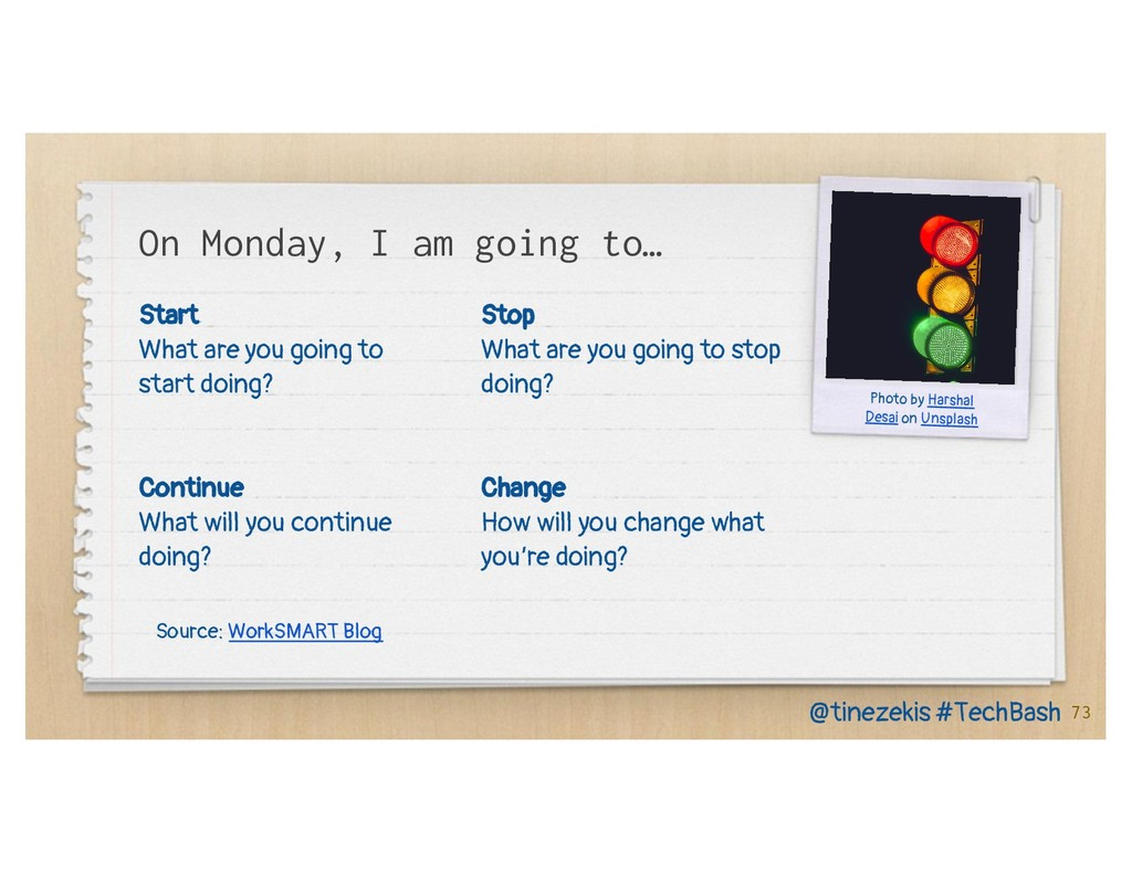 Start What are you going to start doing? Contin...
