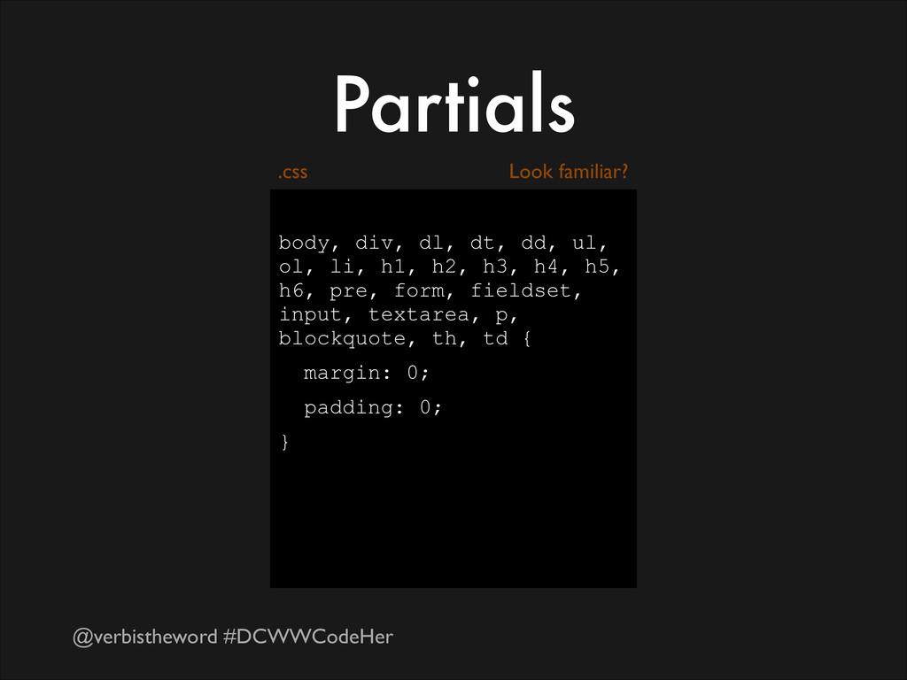 @verbistheword #DCWWCodeHer Partials ! body, di...