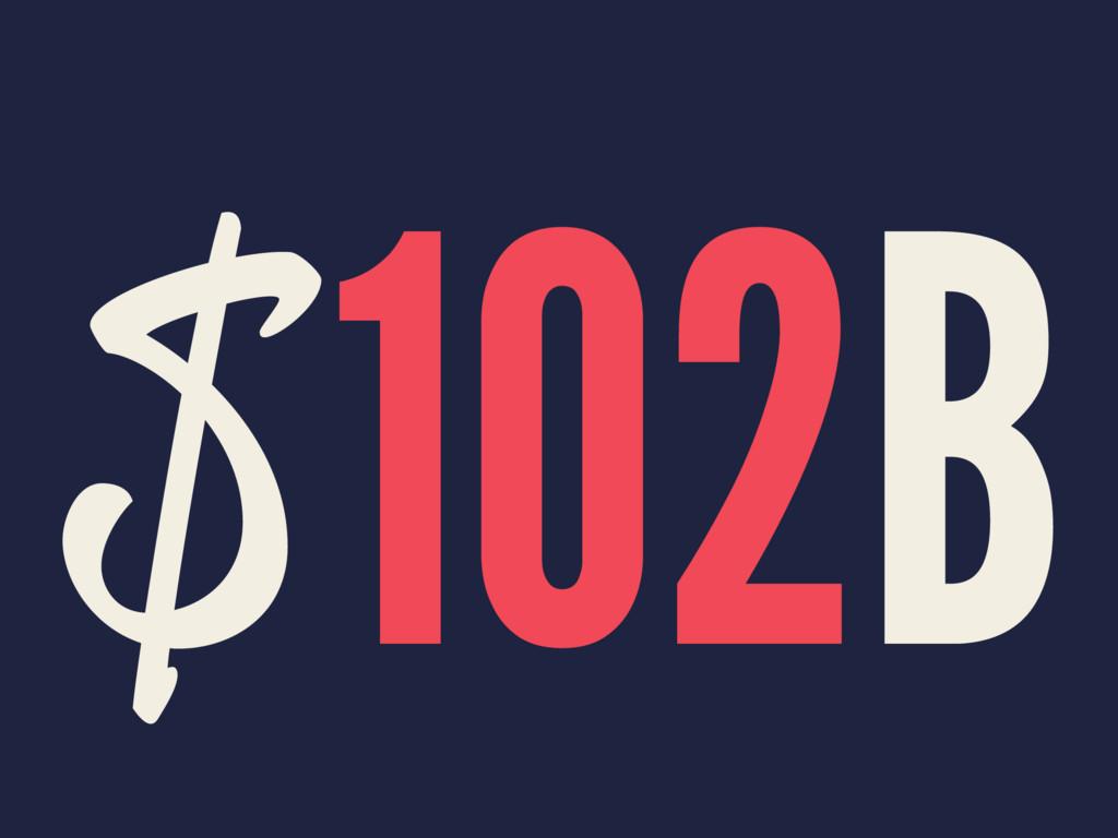 $102B