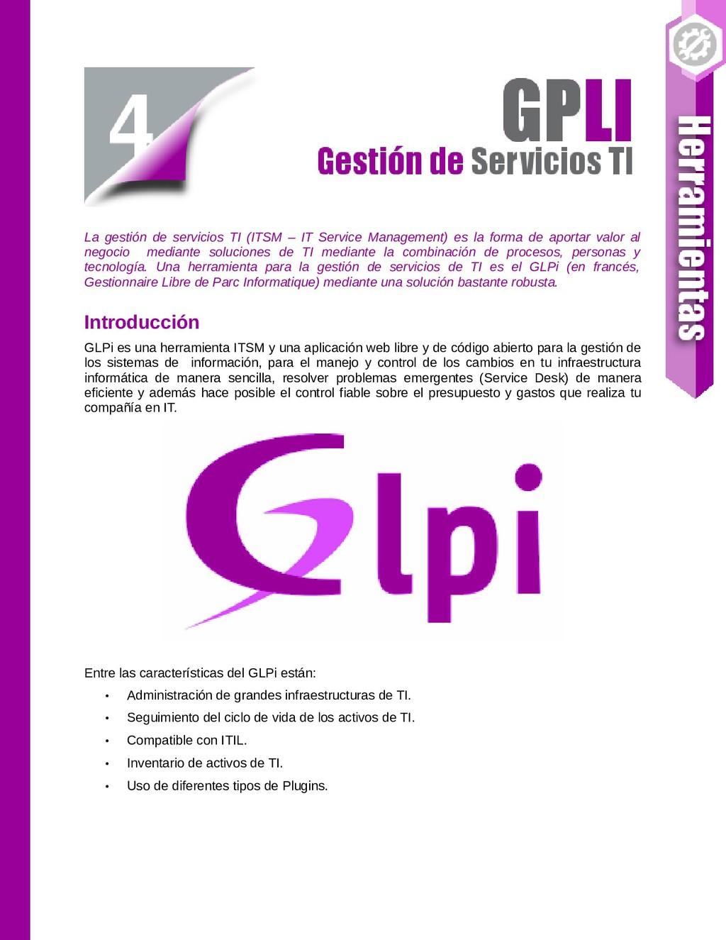 La gestión de servicios TI (ITSM – IT Service M...