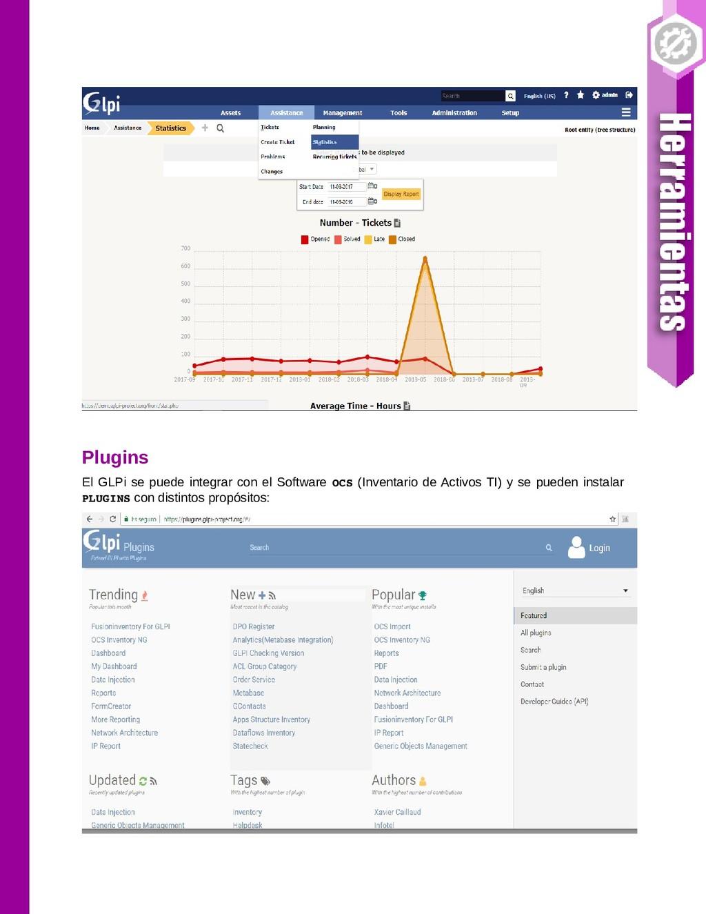 Plugins El GLPi se puede integrar con el Softwa...