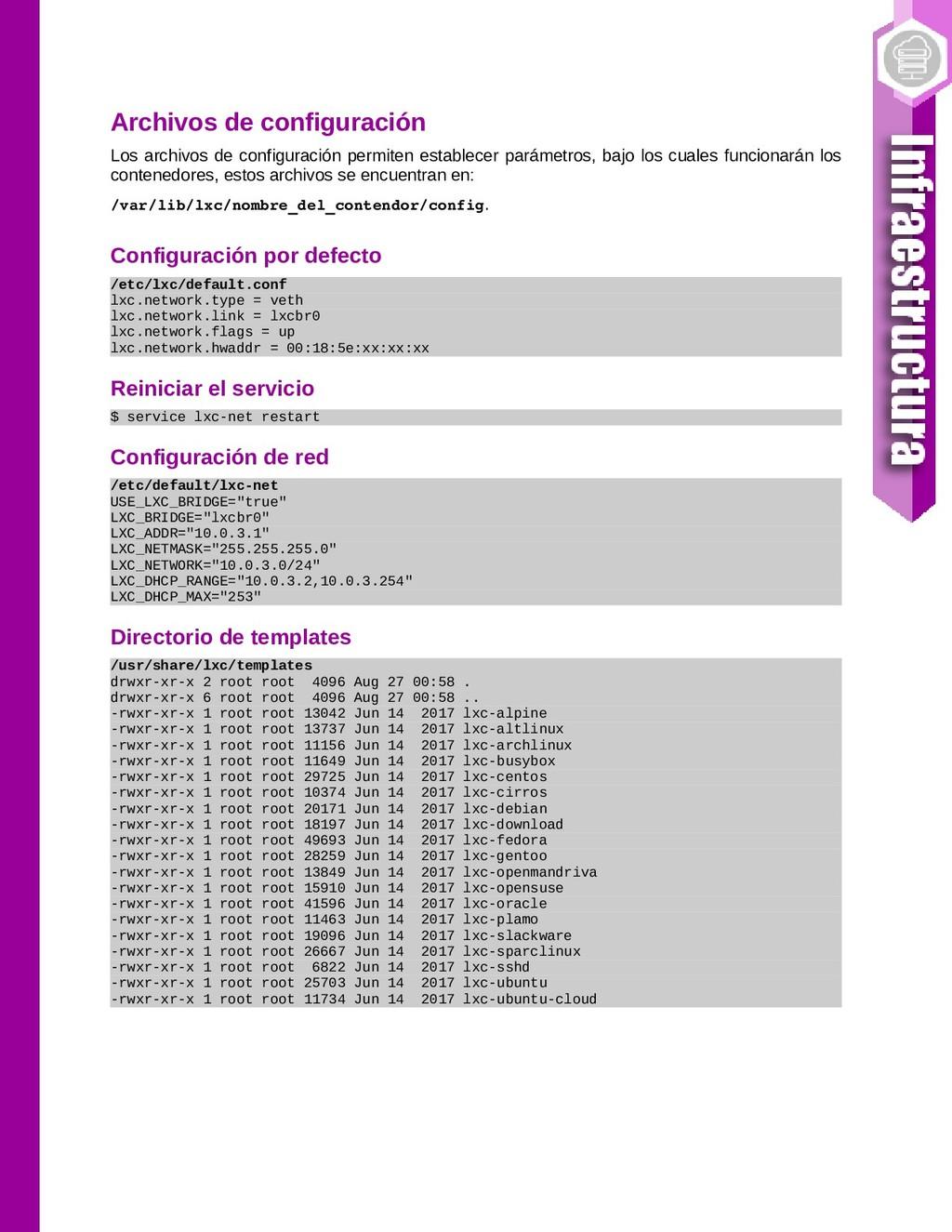 Archivos de configuración Los archivos de confi...