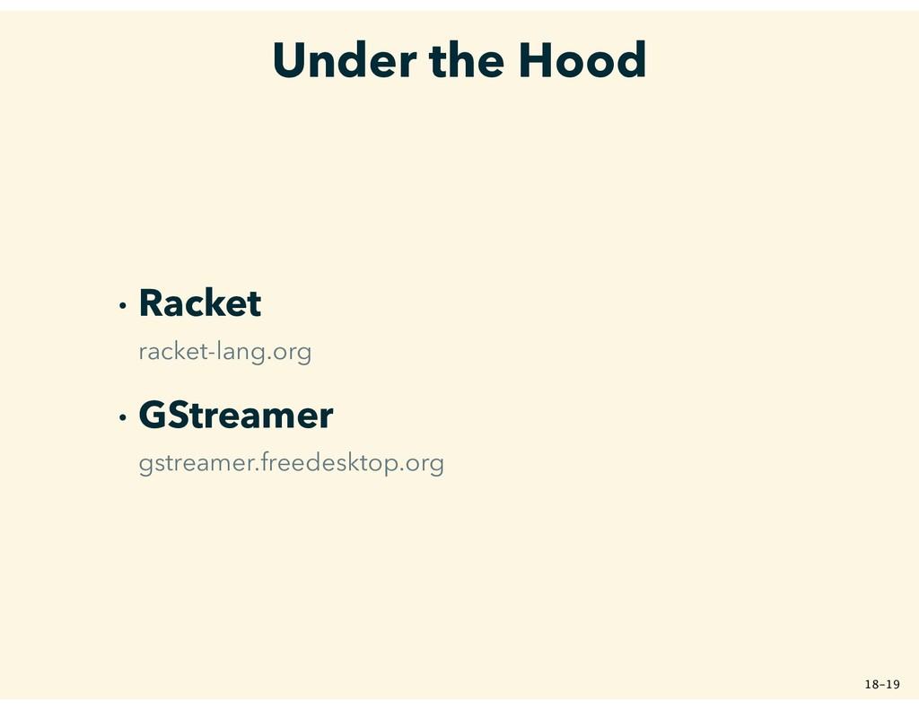 Under the Hood � Racket racket-lang.org � GStre...
