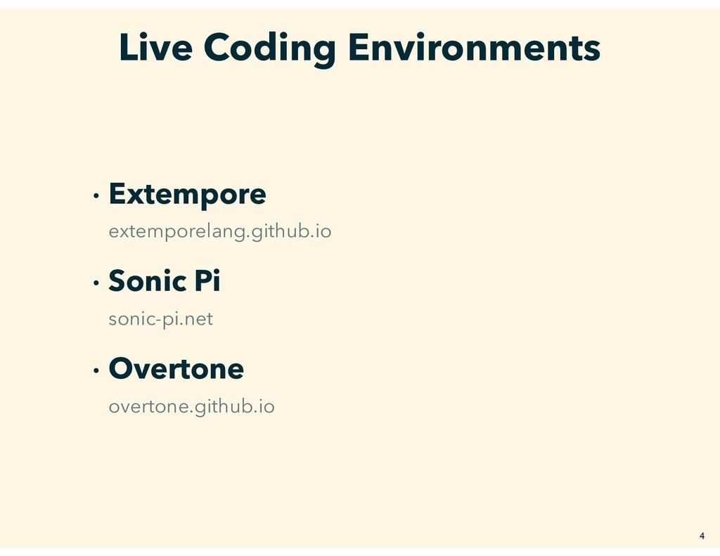 Live Coding Environments � Extempore extemporel...