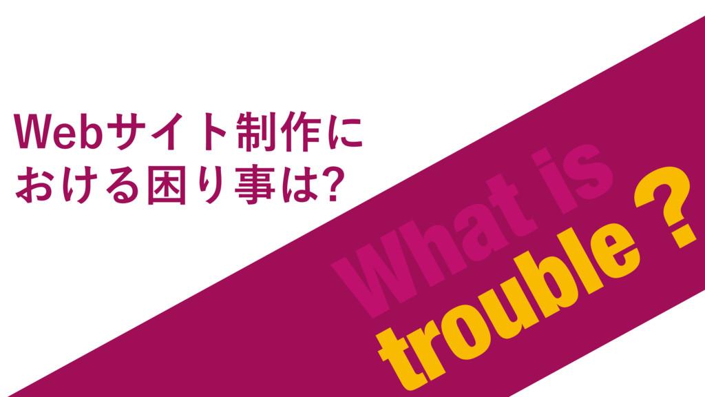 What is troubleʁ 8FCαΠτ੍࡞ʹ ͓͚ΔࠔΓ