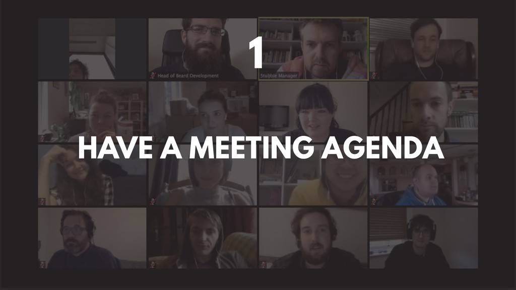 HAVE A MEETING AGENDA 1