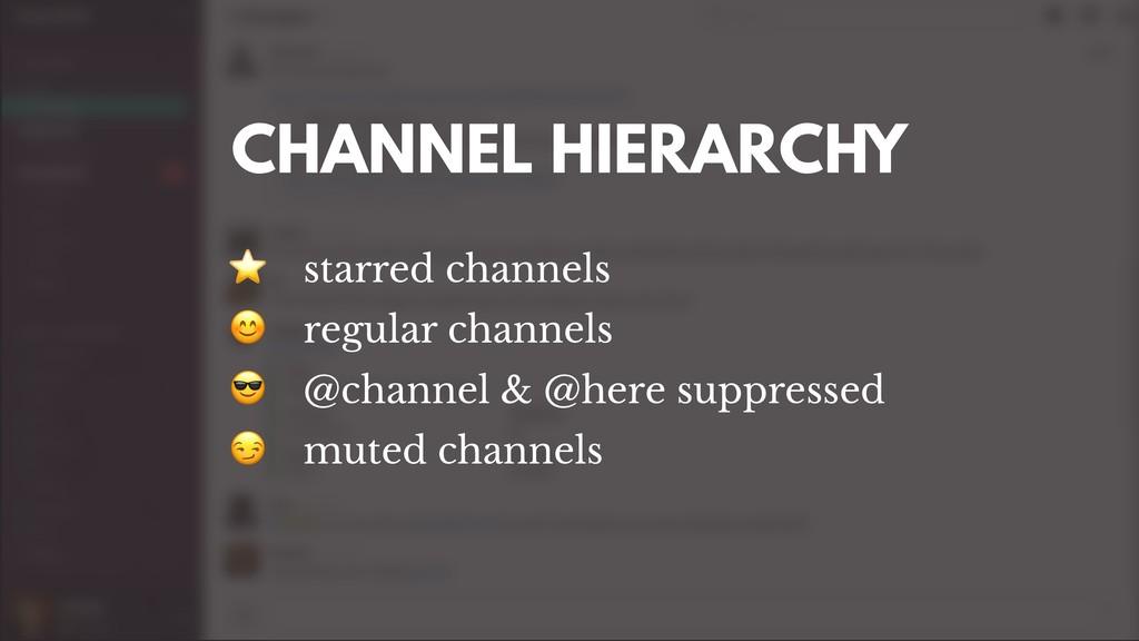 ⭐ starred channels  regular channels  @channel ...