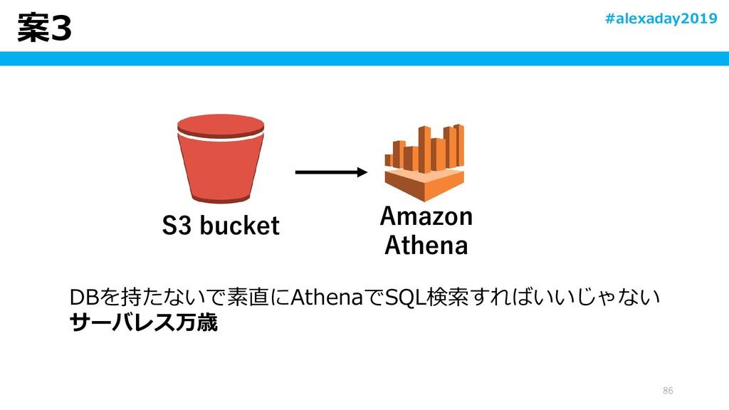 案3 86 DBを持たないで素直にAthenaでSQL検索すればいいじゃない サーバレス万歳 ...
