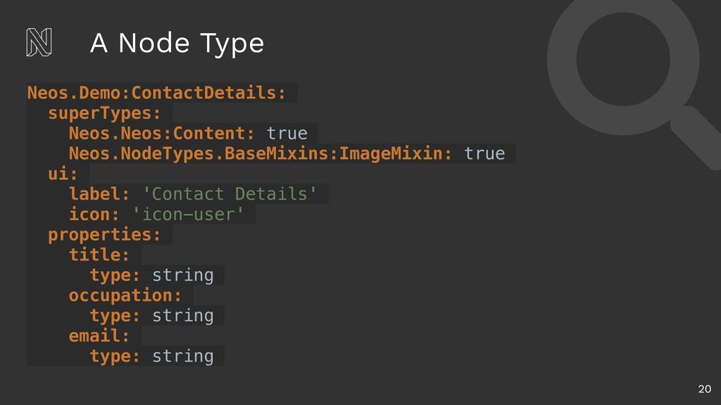 A Node Type 20 Neos.Demo:ContactDetails: superT...