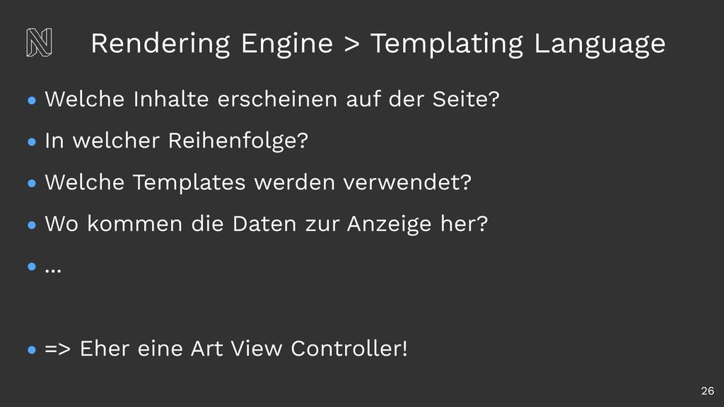 Rendering Engine > Templating Language • Welche...