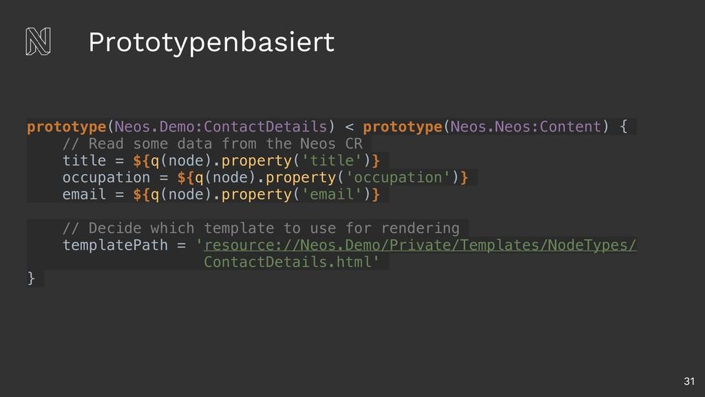 Prototypenbasiert 31 prototype(Neos.Demo:Contac...