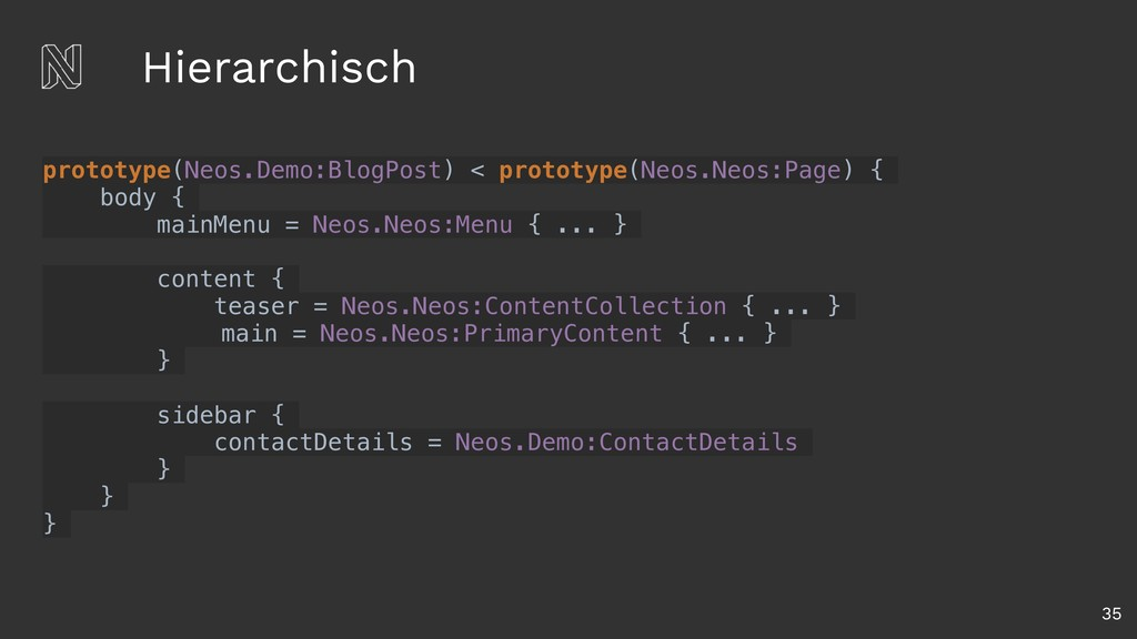 Hierarchisch 35 prototype(Neos.Demo:BlogPost) <...