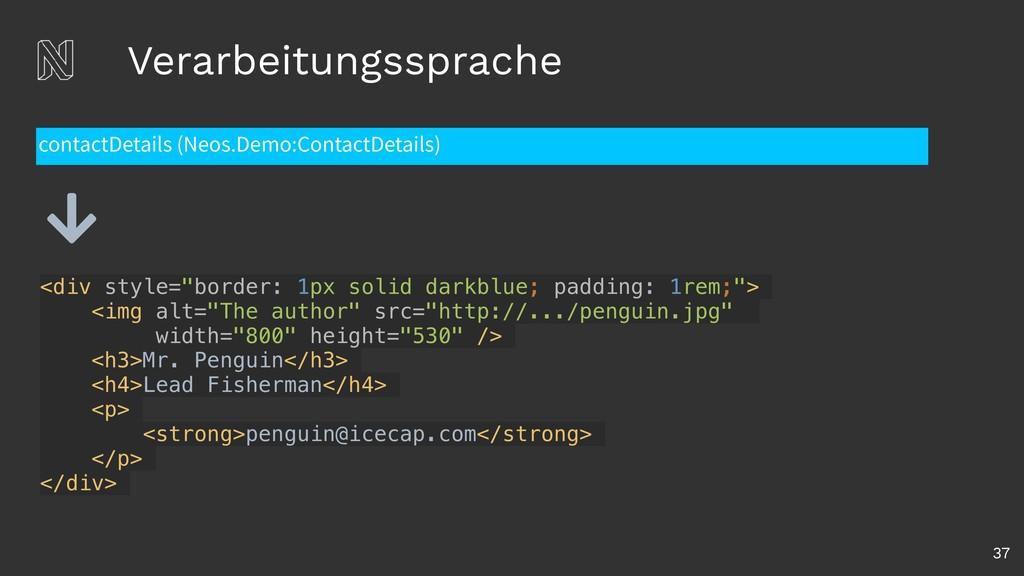 Verarbeitungssprache 37 contactDetails (Neos.De...