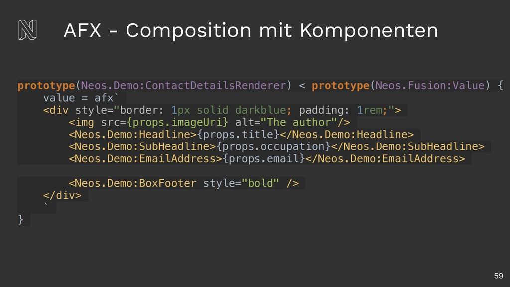 AFX - Composition mit Komponenten 59 prototype(...