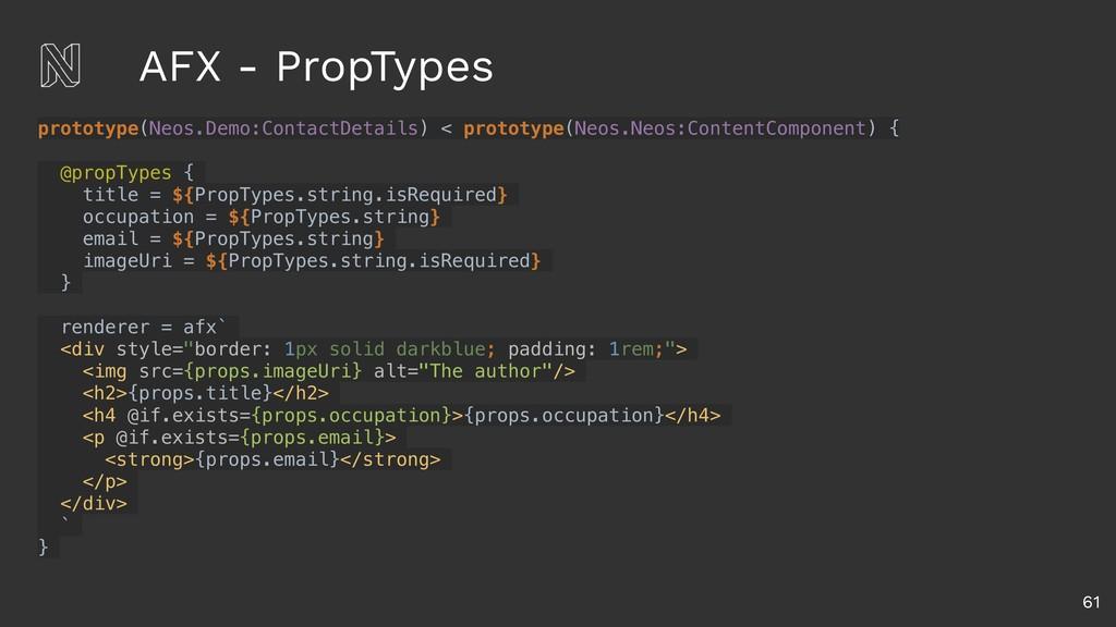 AFX - PropTypes 61 prototype(Neos.Demo:ContactD...